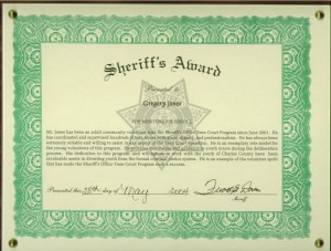 Sheriffs Award